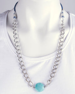 Amazonian silver chain necklace with adjustable length