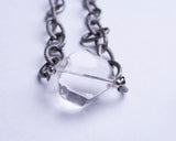 Crystal Stone Silver Necklace