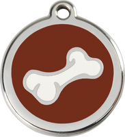 Red Dingo Enamel Tag Bone 2 **Choice of Colours** - Custom Dog Collars