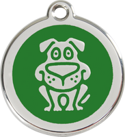 Red Dingo Enamel Tag Dog **Choice of Colours** - Custom Dog Collars