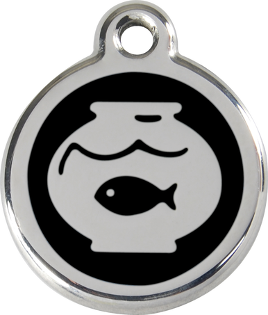 Red Dingo Enamel Tag Fish Bowl - Custom Dog Collars