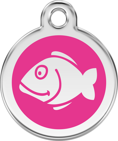 Red Dingo Enamel Tag Fish **Choice of Colours** - Custom Dog Collars