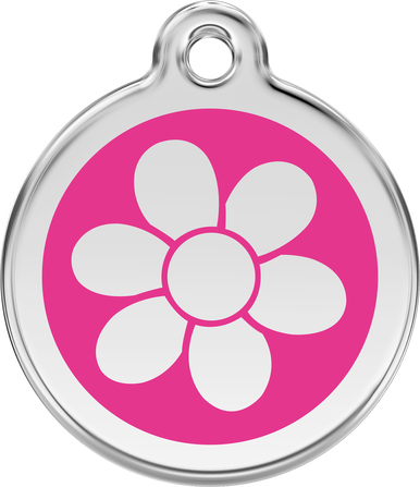 Red Dingo Enamel Tag Flower **Choice of Colours** - Custom Dog Collars