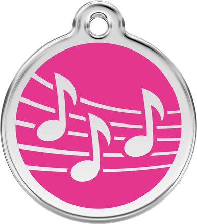 Red Dingo Enamel Tag Music **Choice of Colours**
