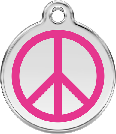 Red Dingo Enamel Tag Peace **Choice of Colours**