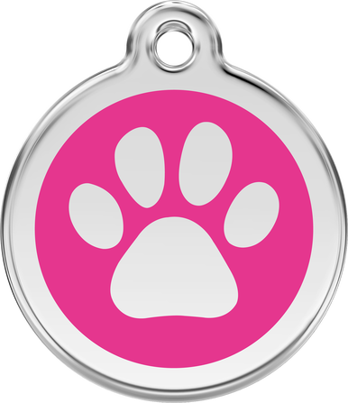 Red Dingo Enamel Tag Paw Print **Choice of Colours**