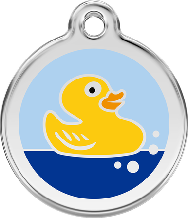 Red Dingo Enamel Tag Rubber Duck Light Blue