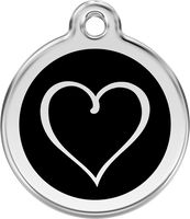 Red Dingo Enamel Tag Tribal Heart **Choice of Colours**
