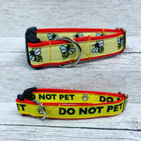 Do Not Pet Me - Alert Dog Collar - Custom Dog Collars