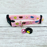 Pink DONUTS Doughnuts Sweet Cake Pudding Kitten/Cat Collar