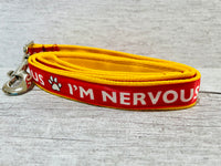I'm Nervous Dog Collar - Any Colour