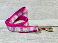 Single Daisy Daisies Ribbon Lead