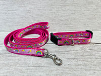 Rainbows Puppy/Small Dog Collar and Lead Set