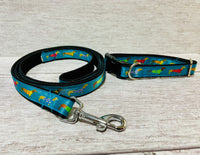 Teal Dachshund Jumper Ribbon Lead