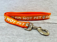 Solid Colour Do Not Pet Me - Alert Dog Collar
