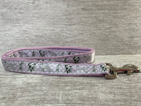 Lilac Spotty Dalmatian Ribbon Collar **EXCLUSIVE**