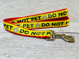Do Not Pet Me - Alert Dog Collar