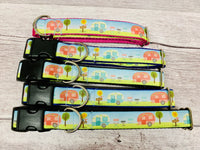 Caravan Holiday Camping Dog Collar - Custom Dog Collars