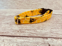 Yellow Bee Fabric Dog Collar