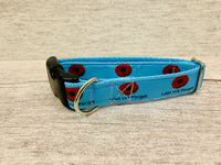 Blue Poppies Lest We Forget Dog Collar - Custom Dog Collars