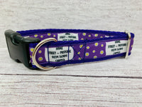 Daisy Personalised Dogs Custom Print Ribbon Dog Collar
