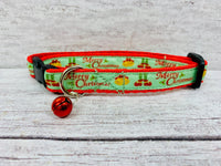 Merry Christmas Elf Feet and Christmas Bells Xmas Kitten/Cat Collar