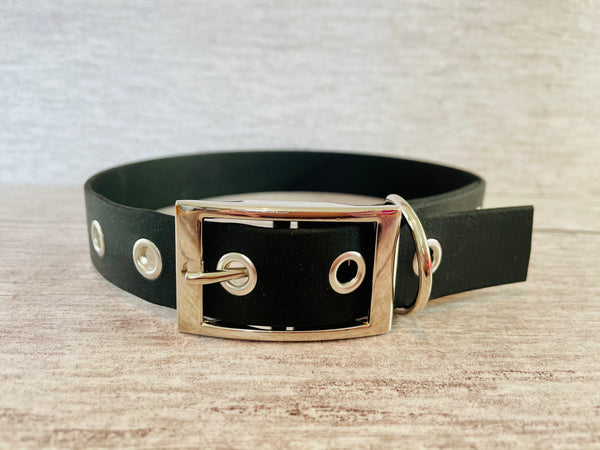Black Biothane Waterproof Dog Collar