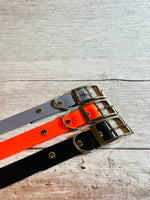 Orange Biothane Waterproof Dog Collar