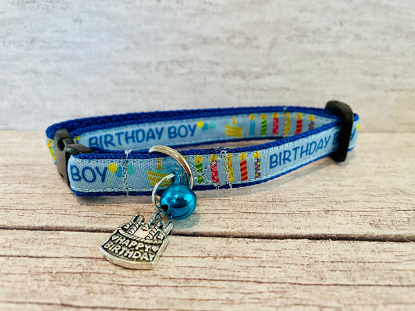 Birthday Cake Candles Puppy/Small Dog Collar *Birthday Boy* *Birthday Girl*