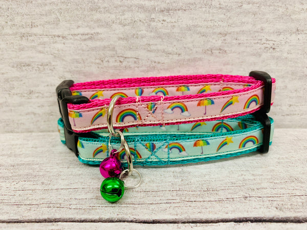 Rainbow Print Puppy/Small Dog Collar