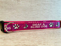 Deaf and Blind Dog Collar - Any Colour