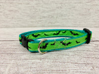 Bright Colourful Bats Halloween Scary Kitten/Cat Collar