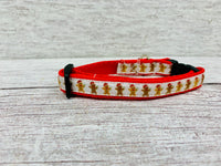 Gingerbread Man Christmas Xmas Kitten/Cat Collar