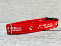 Neutered and Chipped Dog Collar