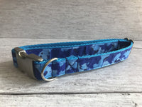 Camo Inspired Dog Ribbon Dog Collar - Custom Dog Collars