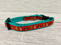 Red Christmas Festive Xmas Kitten/Cat Collar