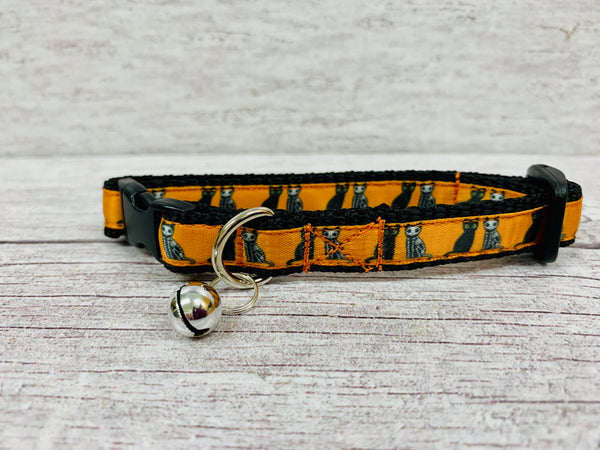 Halloween Black Cat and Skeleton Cat Kitten/Cat Collar