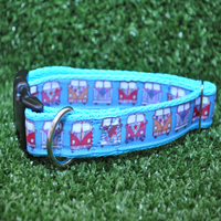 Blue Campervans Dog Collar - Custom Dog Collars