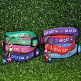 Deaf Cat Ribbon Kitten/Cat Collar - Custom Dog Collars