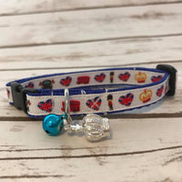 London Heart Crown Royal Family Queen's Guards Bus Puppy/dog Collar - Custom Dog Collars