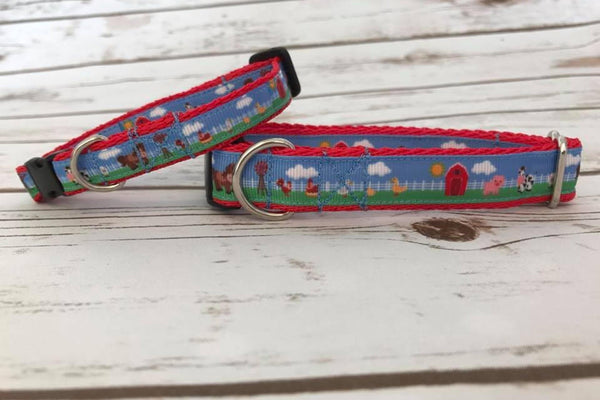 Cute Farm Animals Kitten/Cat Collar - Ferret Collar - Custom Dog Collars