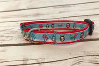 Christmas Festive Penguin Candy Canes Xmas Winter Chilly Custom Christmas Kitten/Cat Collar - Custom Dog Collars