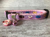 Pink DONUTS Doughnuts Sweet Cake Pudding Kitten/Cat Collar - Custom Dog Collars