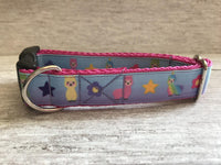 Rainbow Llamas Dog Collar - Custom Dog Collars