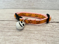 Halloween Pumpkin Face Shapes Puppy/Small Dog Collar