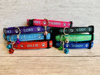 Personalised Custom Name Contact Details Chipped Ribbon Kitten/Cat Collar