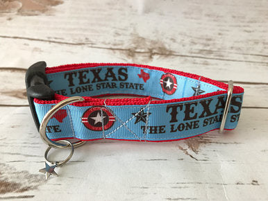 Texas *The Lone Star State* TX Dog Collar