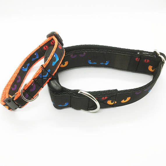 Spooky Eyes Halloween Dog Collar