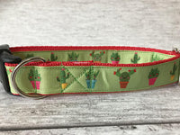 Cactus Inspired Dog Collar - Custom Dog Collars