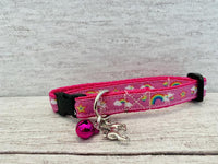 Unicorns, Rainbows & Stars Ribbon Puppy/Small Dog Collar